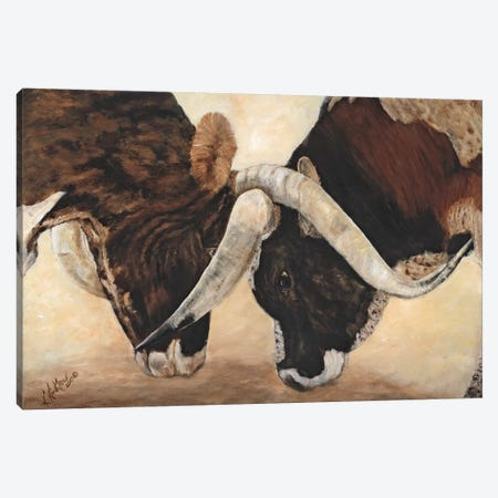 Hook 'em Horns I Canvas Print #KWI4} by Kathy Winkler Art Print