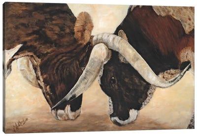 Hook 'em Horns I Canvas Art Print