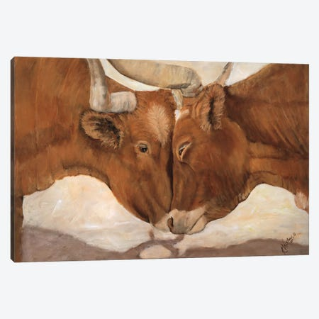 Hook 'em Horns II Canvas Print #KWI5} by Kathy Winkler Art Print