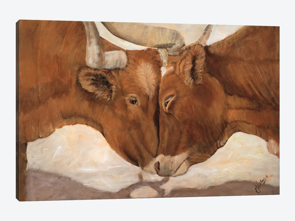 Hook 'em Horns II by Kathy Winkler 1-piece Canvas Artwork