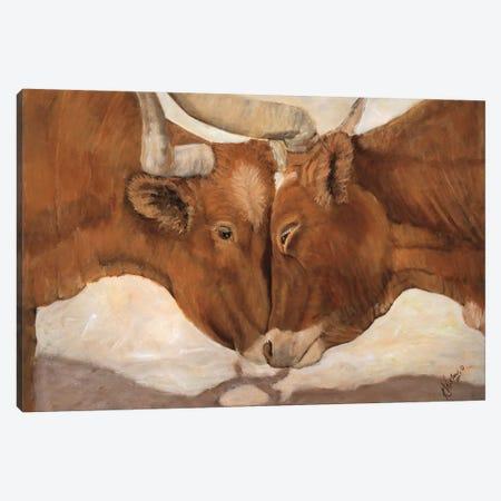 Hook 'em Horns II 3-Piece Canvas #KWI5} by Kathy Winkler Art Print