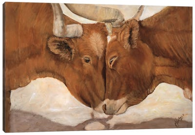 Hook 'em Horns II Canvas Art Print