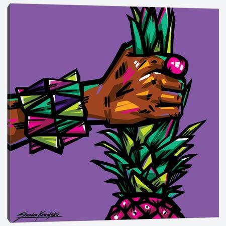 Pineapple Canvas Print #KWL33} by Sandra Kowalskii Art Print