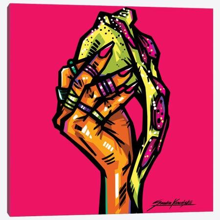 Pizza Canvas Print #KWL41} by Sandra Kowalskii Canvas Art