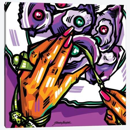Oysters Canvas Print #KWL42} by Sandra Kowalskii Canvas Wall Art