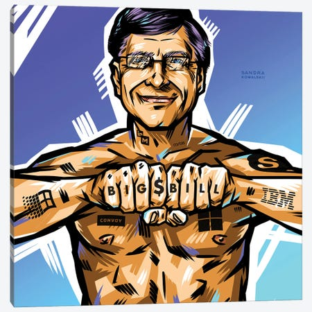 Bill Gates Canvas Print #KWL77} by Sandra Kowalskii Canvas Art