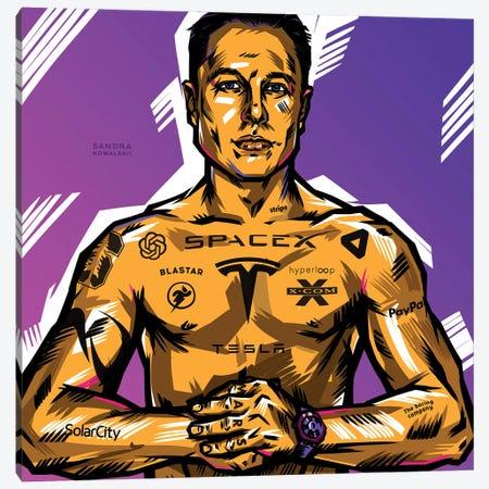 Elon Musk Canvas Print #KWL78} by Sandra Kowalskii Canvas Art Print