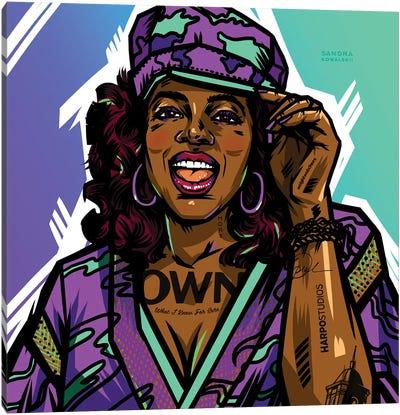 Oprah Canvas Art Print