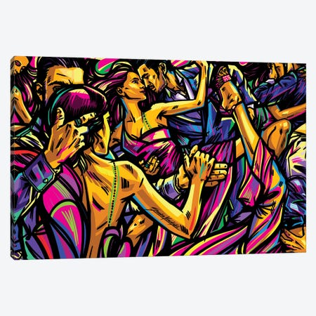 Tango Canvas Print #KWL87} by Sandra Kowalskii Art Print