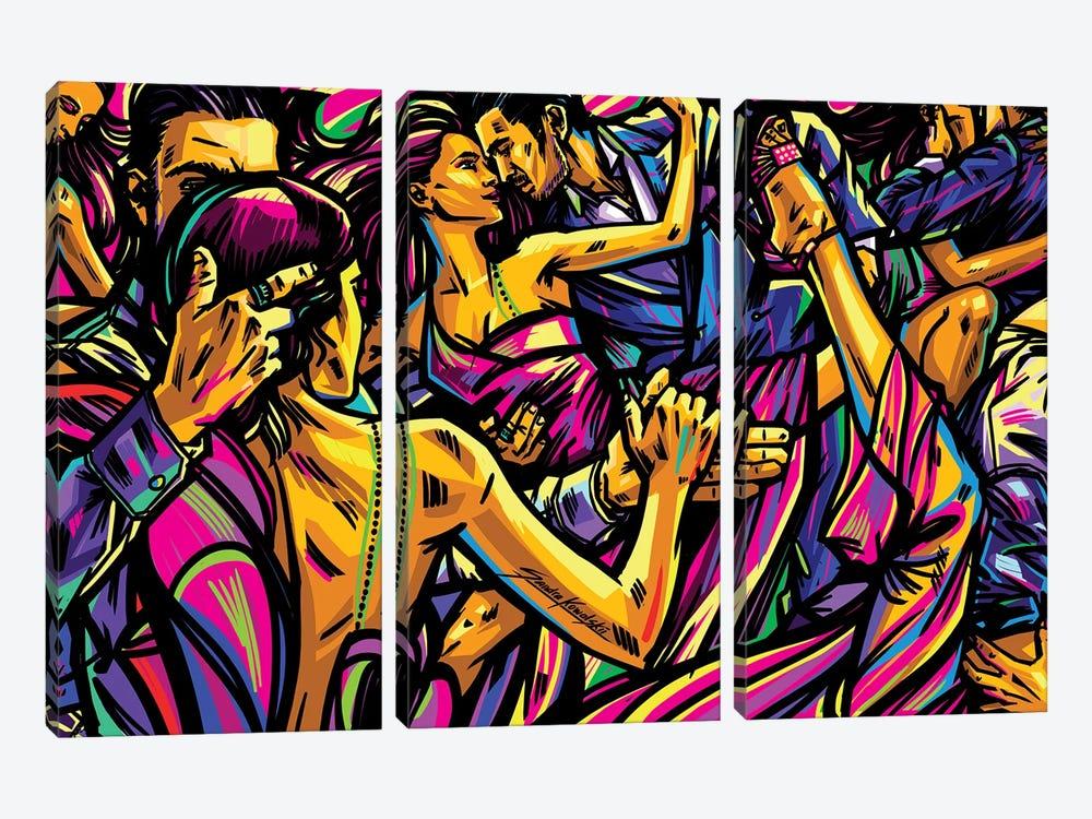 Tango by Sandra Kowalskii 3-piece Canvas Print
