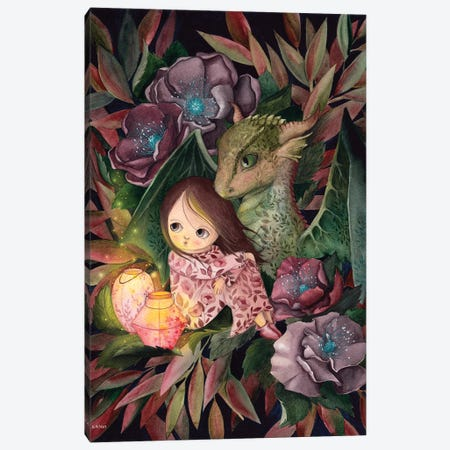 Dragon Friend Canvas Print #KWN13} by KWNart Canvas Print