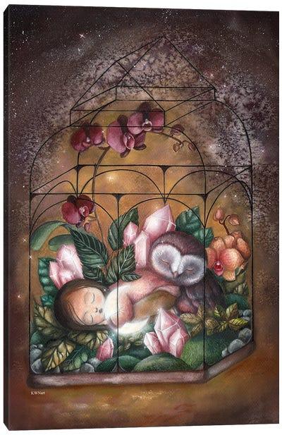 A Little Moon Lover Canvas Art Print