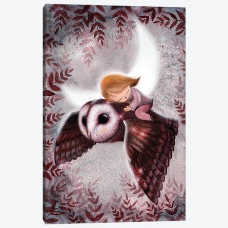 Flight Through The Night Canvas Print #KWN17} by KWNart Canvas Wall Art
