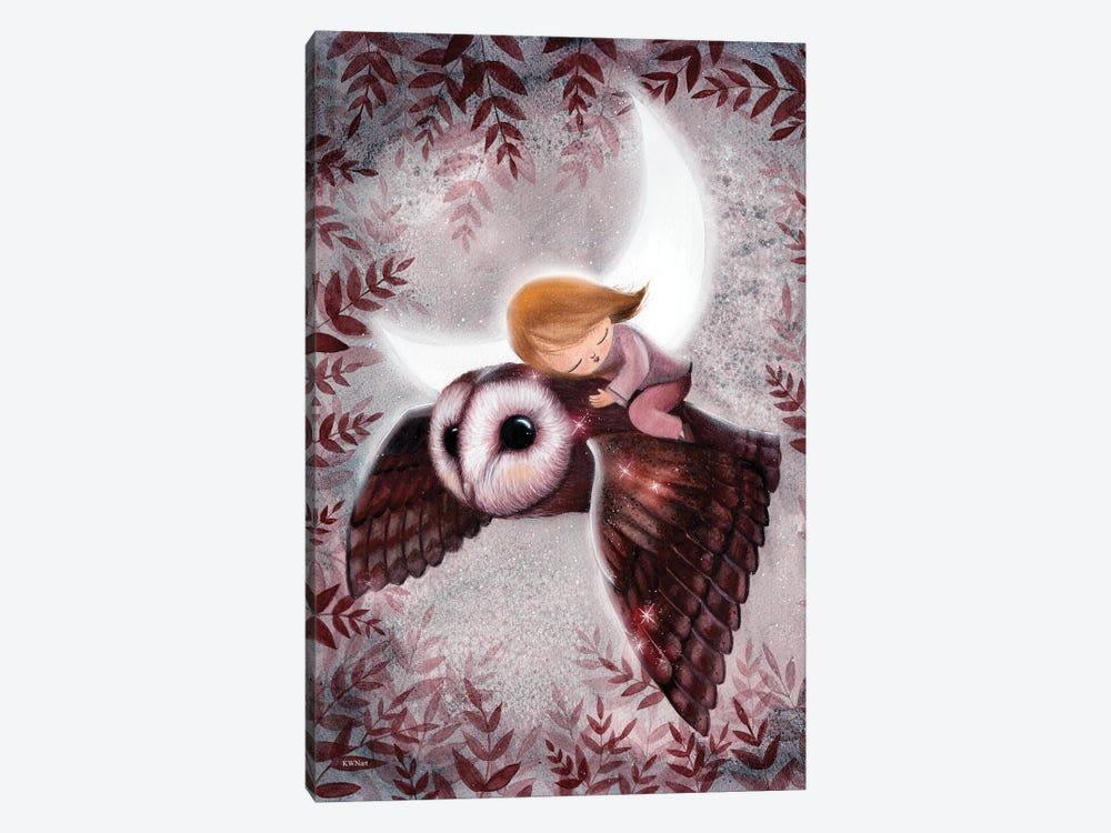 Flight Through The Night by KWNart 1-piece Canvas Art Print