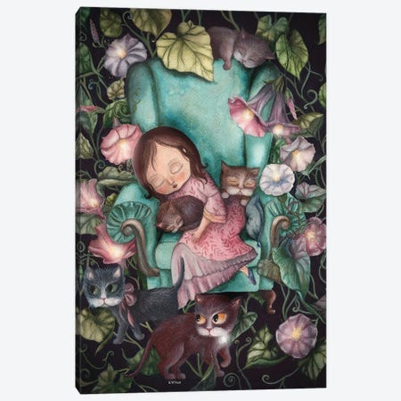 A Little Dreamer Canvas Print #KWN18} by KWNart Canvas Print