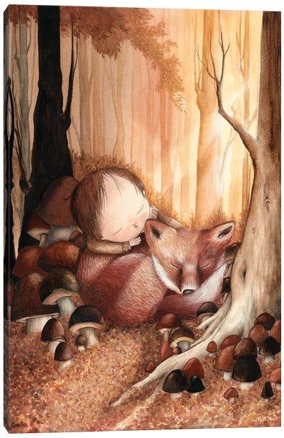 In A Deep Autumn Forest Canvas Art Print