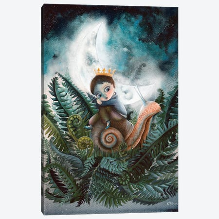 Moon Creatures Canvas Print #KWN4} by KWNart Canvas Wall Art
