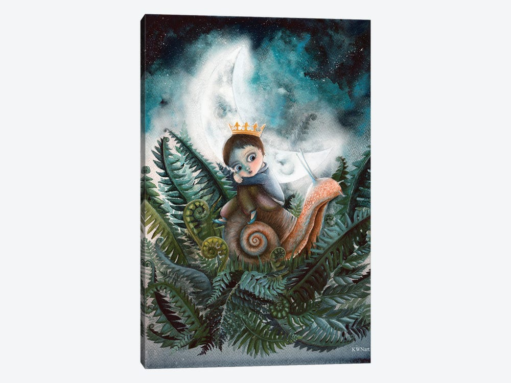 Moon Creatures by KWNart 1-piece Canvas Wall Art