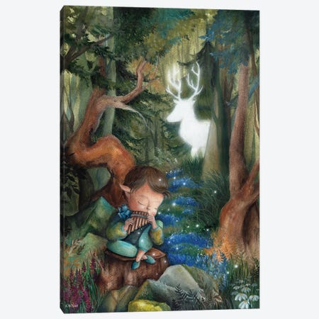 Forest Fairytale Canvas Print #KWN5} by KWNart Canvas Wall Art
