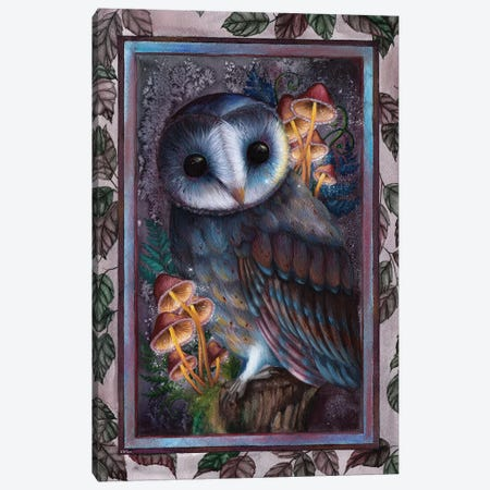 Owl Canvas Print #KWN6} by KWNart Canvas Art