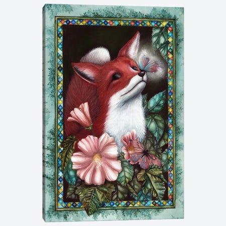 Fox Canvas Print #KWN8} by KWNart Art Print