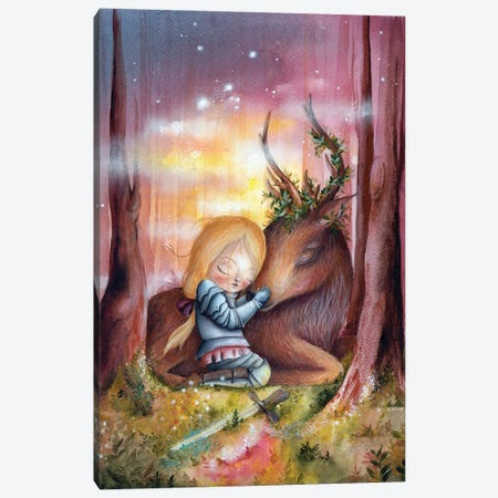 Enchanted Forest Canvas Print #KWN9} by KWNart Canvas Art Print