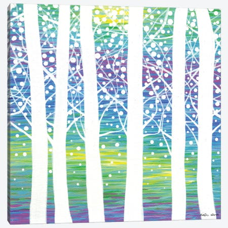 Woodland IV 3-Piece Canvas #KWO107} by Kirstin Wood Canvas Art
