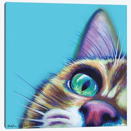 Ginger On Turquoise Canvas Print #KWO121} by Kirstin Wood Canvas Print