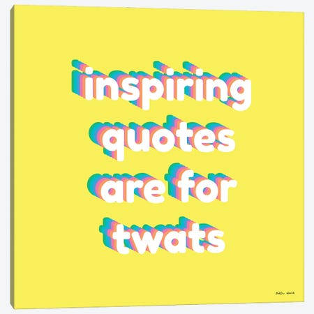 Inspiring Quotes Canvas Print #KWO132} by Kirstin Wood Canvas Artwork