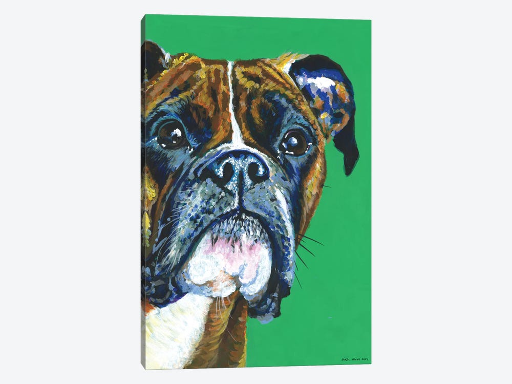 Boxer On Emerald by Kirstin Wood 1-piece Art Print