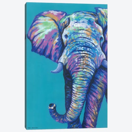 Elephantastic Canvas Print #KWO34} by Kirstin Wood Canvas Art Print