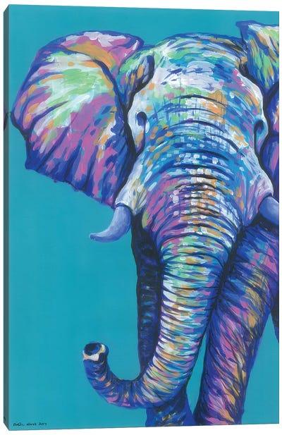Elephantastic Canvas Art Print