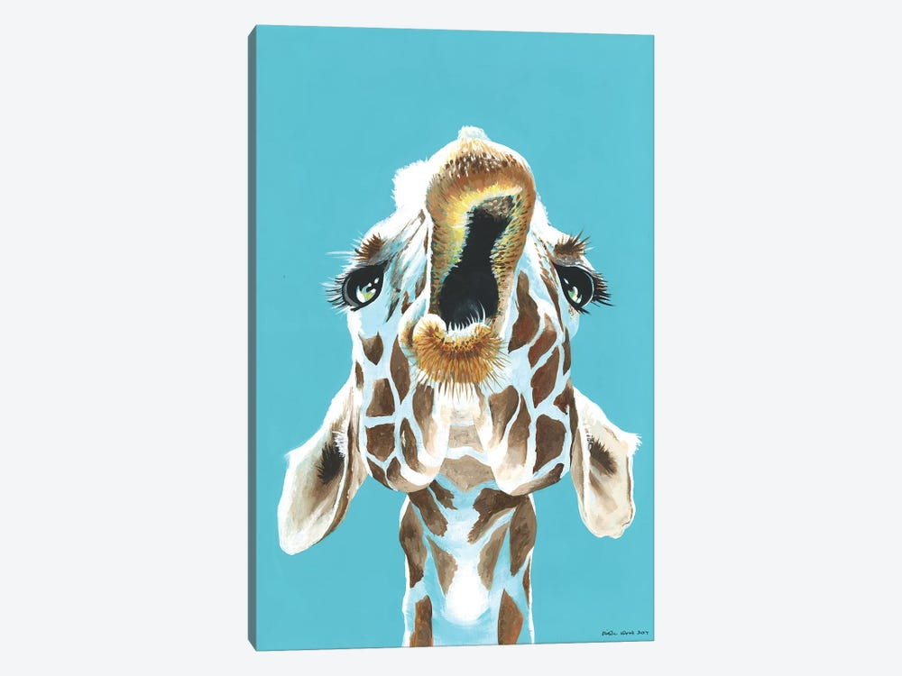 Having A Giraffe by Kirstin Wood 1-piece Canvas Wall Art