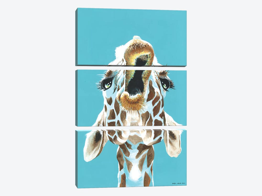 Having A Giraffe 3-piece Canvas Wall Art