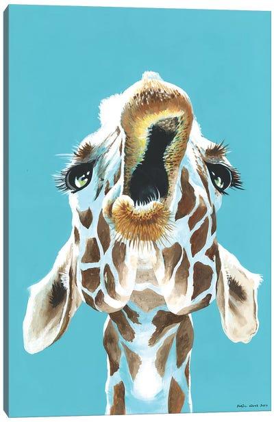 Having A Giraffe Canvas Art Print