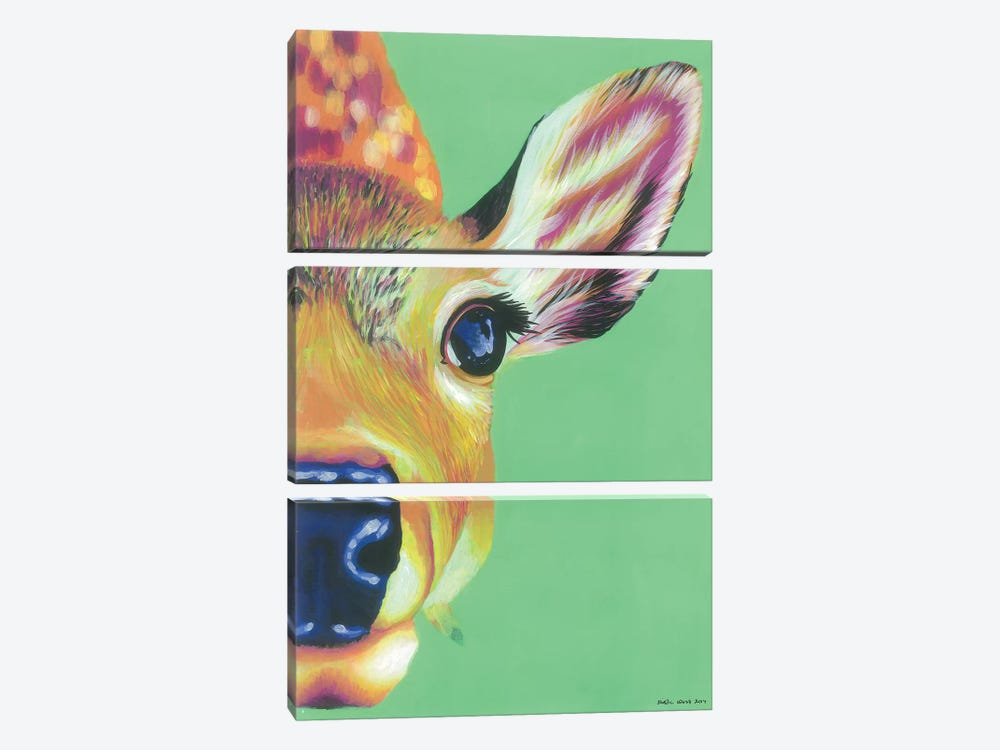 Hello Deer by Kirstin Wood 3-piece Canvas Print