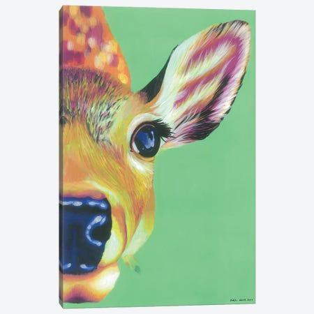 Hello Deer Canvas Print #KWO36} by Kirstin Wood Art Print