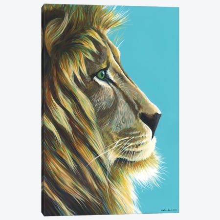 Lion King Canvas Print #KWO37} by Kirstin Wood Art Print