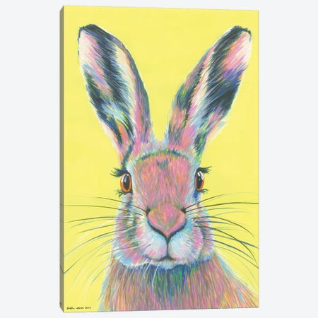 Mad March Hare Canvas Print #KWO38} by Kirstin Wood Canvas Artwork