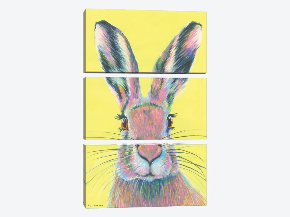 Mad March Hare by Kirstin Wood 3-piece Canvas Art Print