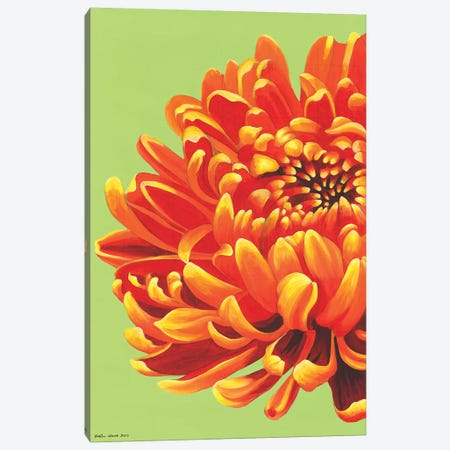 Orange Bloom Canvas Print #KWO39} by Kirstin Wood Canvas Artwork