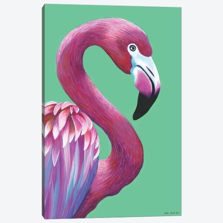 Pretty Flamingo Canvas Print #KWO41} by Kirstin Wood Canvas Art Print