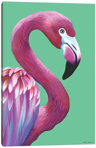 Pretty Flamingo Canvas Art Print