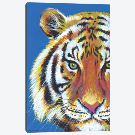 Tiger Tiger Canvas Print #KWO43} by Kirstin Wood Art Print
