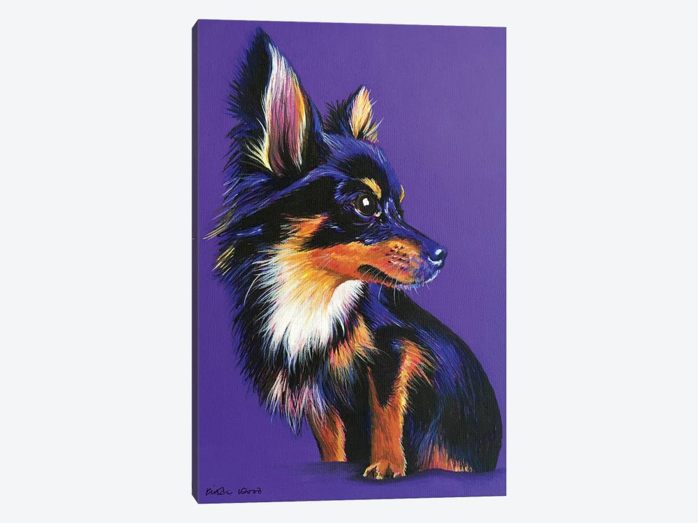 Chihuahua On Purple by Kirstin Wood 1-piece Canvas Art Print