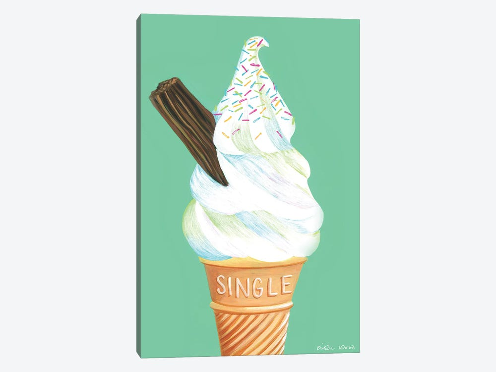 Ice Cream On Mint Green by Kirstin Wood 1-piece Art Print