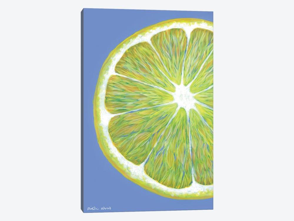 Lemon Slice On Blue by Kirstin Wood 1-piece Art Print