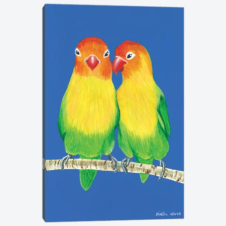 Little Love Birds Canvas Print #KWO83} by Kirstin Wood Canvas Art Print