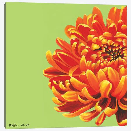 Orange Bloom Canvas Print #KWO84} by Kirstin Wood Canvas Wall Art