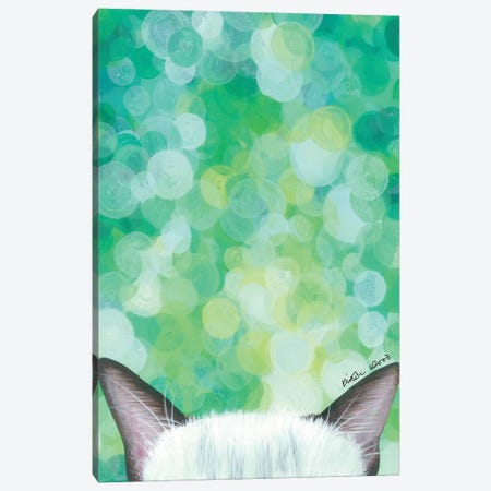 Siamese Cat Canvas Print #KWO87} by Kirstin Wood Canvas Artwork